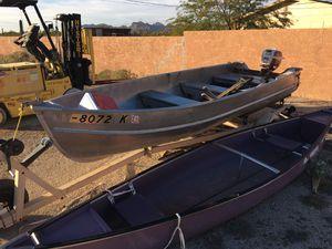 1959 14 ft aluminum Johnson boat w/ original motor for Sale in Apache Junction, AZ