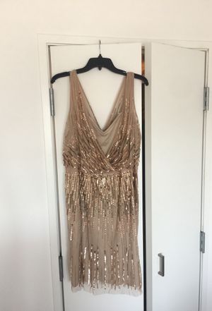 Gold Sequin Cocktail Dress | size 14 for Sale in San Francisco, CA