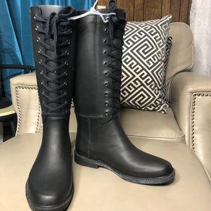 NWOT Merona Black Rain Boots SZ 6 for Sale in San Antonio, TX