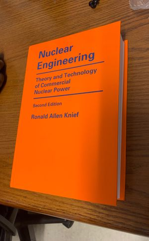 Nuclear Engineering second edition by Ronald Allen Knief for Sale in Cambridge, MA