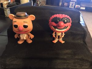 Muppets Fozzie bear and Animal Funko pop set of 2 for Sale in Smithfield, NC