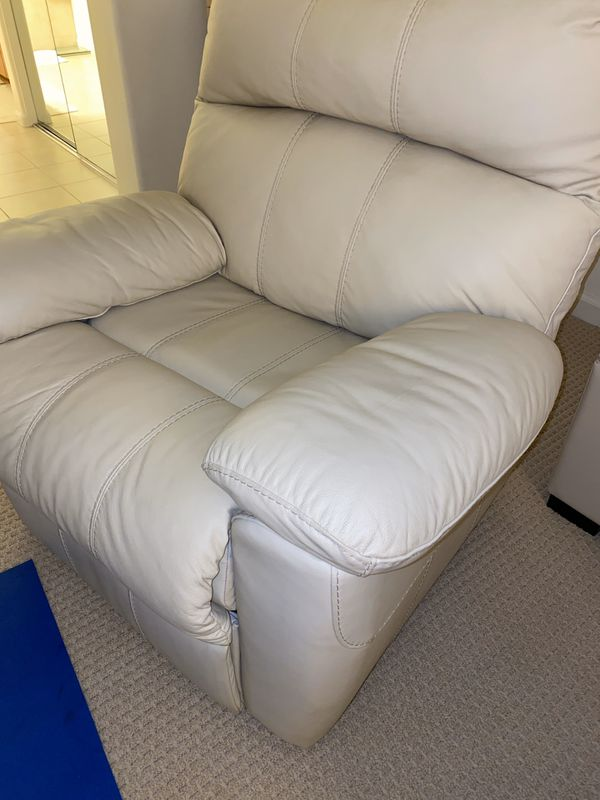 White Leather Recliner Chair
