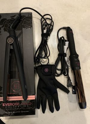 Bombay Hair rose gold straightener & curling wand for Sale in Winter Garden, FL