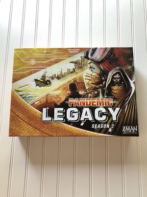 Pandemic Legacy Season 2 Board Game ZMAN games Yellow Box 2017 for Sale in North Royalton, OH