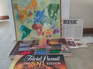 Board Game Risk Parker Brothers World Conquest Game plus FREE Trivial Pursuit DVD SNL Edition for Sale in Raleigh, NC