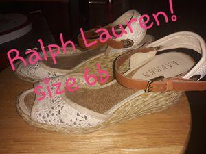 Ralph Lauren wedge sandals for Sale in Van Buren, AR