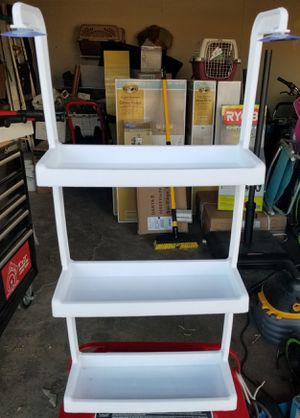3 Tiered Unbranded White Plastic Shelves with Suction cups for Sale in Hesperia, CA