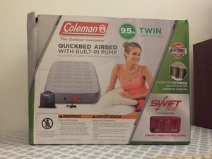 Coleman air mattress twin with built in pump for Sale in Philadelphia, PA