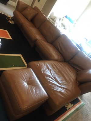 Century leather couch for Sale in Charlotte, NC