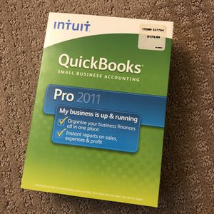 QuickBooks Pro 2011 Small Business Accounting for Sale in Lake Elsinore, CA