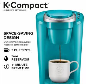 Keurig Turquoise K-Cup Pod Coffee Maker Space Saver Compact Single Serve Machine for Sale in Las Vegas, NV