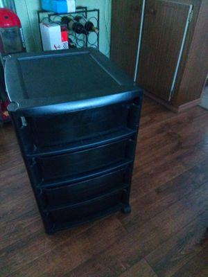 4 Drawer Plastic Rolling Cart. for Sale in Largo, FL