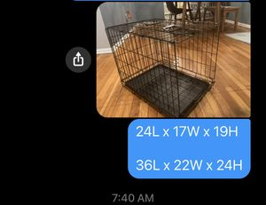 2 Dog Crates will sell separately for Sale in Long Beach, NY