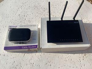 Asus Netgear Modem Router Combo Like New for Sale in Phoenix, AZ