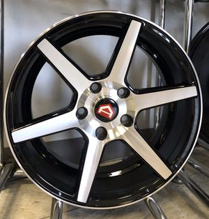 """Brand new 16"""" Silver Gloss Black 5x4.5 Rims Wheels Concave Civic Pinstripe for Sale in Tampa, FL"""