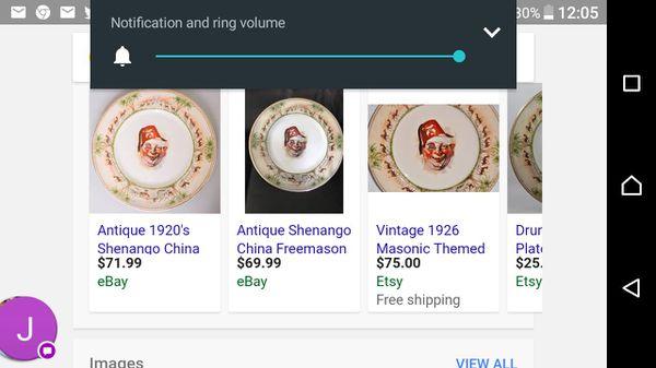 Antique 1920's Shenango China Freemason Shriners Rough Night Plate X-Large  12