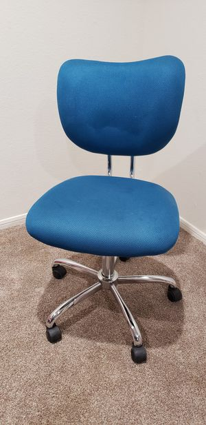 Blue / Silver Rolling Chair for Sale in Henderson, NV