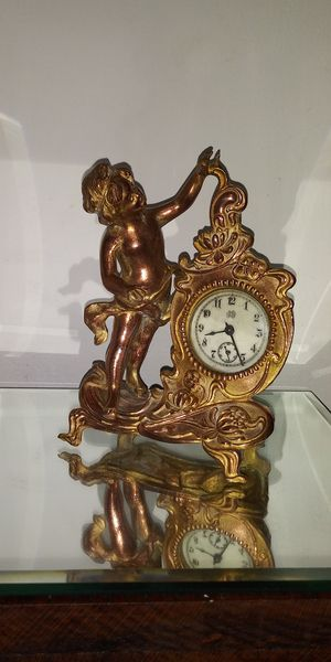Antique Jennings Brothers Cherub-Cupid/Clock Sculpture for Sale in Chicago, IL