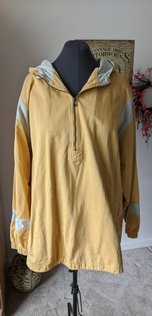NIKE XXL half zip jacket, 100% cotton, mustard yellow gray color. for Sale in Vancouver, WA