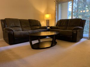 Microfiber/ leather recliner sofa + love seat for Sale in Mountain View, CA