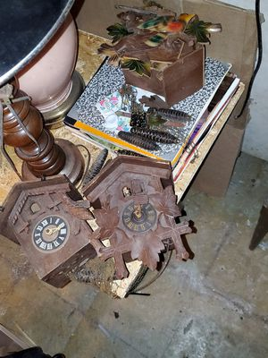 3 Vintage Authentic German coo coo clocks for repair. for Sale in Chicago, IL