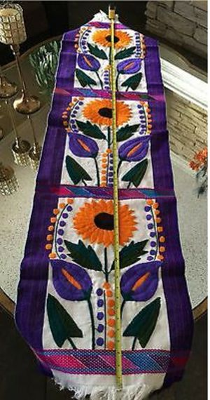 Mexican Sunflower Calalily Chiapas Otomi Table Bed Runner for Sale in Las Vegas, NV