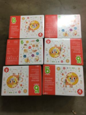 New - size 4 diapers Babyganics, 68 count boxes - $15 for Sale in Walnut Creek, CA