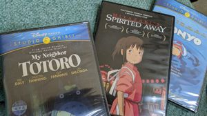 Classic animation movies - my neighbor totoro, spirited away, and ponyo for Sale in Frisco, TX