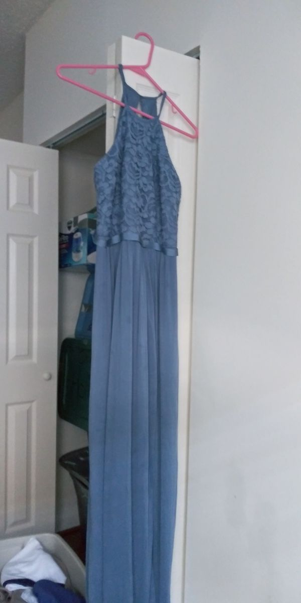 David Bridal prom dress color blue size 8
