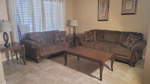 Living Room Set Couches with tables and lamps for Sale in Elk Grove, CA