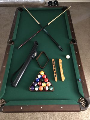 Pool table with all of the essentials for Sale in Glendale, AZ