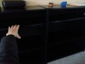 2-shelf bookshelves (2 of them), black veneer for Sale in Lebanon, OR
