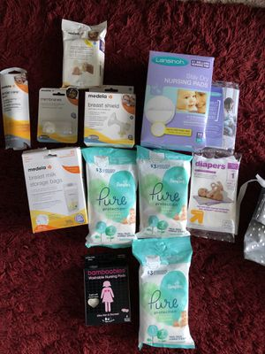 Medela Accessories and new mom kit for Sale in Columbus, OH