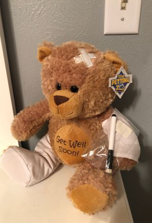 Get well soon teddy bear with tag still on for Sale in Katy, TX