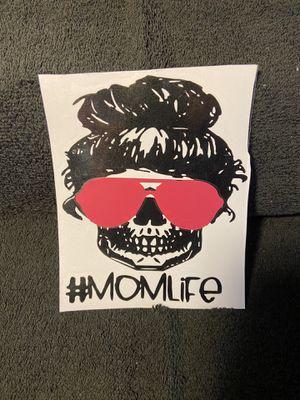 Skull mom life car decal for Sale in Unionville, MI