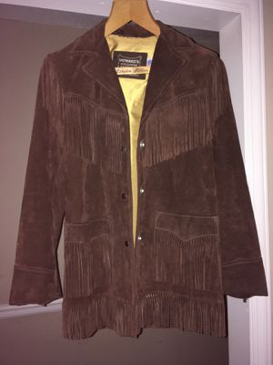 Women's Fringe Leather Coat Size 10 for Sale in Durham, NC