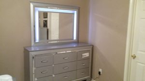 9 DRAWER DRESSER MIRROR WITH LED LIGHTS NEW for Sale in Austin, TX