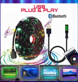 🚥NEW USB POWDERED RGB LED STRIP 16 FEET/5M💥 BLUETOOTH APP CONTROL. PLUG& PLAY! CEILINGS/ GAME ROOM/ COMPUTER/ UNDER BED/ CLOSET LIGHT🚥 for Sale in Ontario, CA