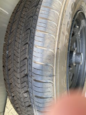 2 Tires P155/80R13 90% tread used for 1 trip for Sale in Safety Harbor, FL