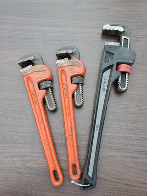 Ridgid / Husky pipe wrenches for Sale in Orange, CA
