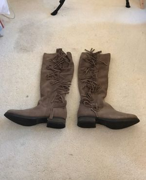 Steve Madden Brown Fringed Boots for Sale in Raleigh, NC
