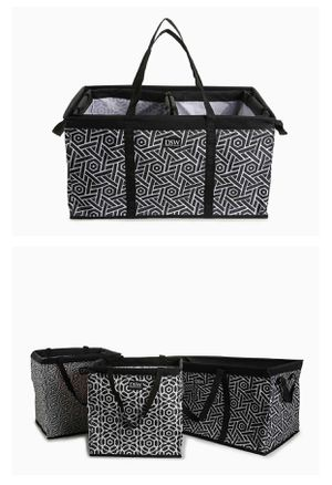 NEW!!! DSW black and white 3 piece organizer car trunk or at home organization for Sale in MONTGOMRY VLG, MD