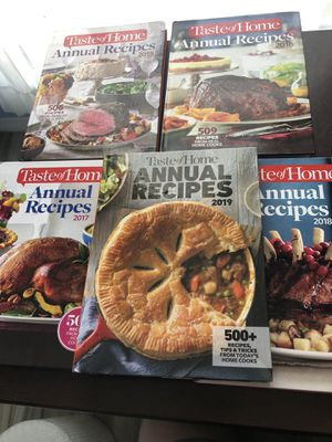 Taste of home annual cookbook 2015-2019 for Sale in Kissimmee, FL