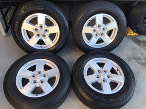 4 Jeep wheels and tires. for Sale in Chino Hills, CA