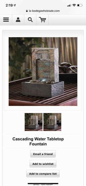 Cascading Water Tabletop Fountain for Sale in New York, NY