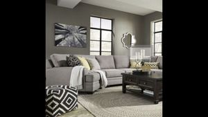!! Custom Made Pewter sectional Couch w/Snuggler!! for Sale in Lehi, UT