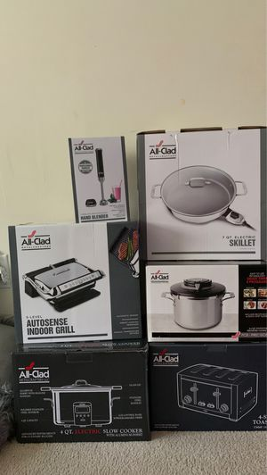 All-Clad Kitchen Appliances everything brand new in box can be sold together or separately for Sale in Hillcrest Heights, MD