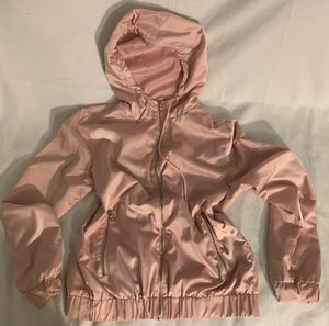 Pale Pink Hooded Bomber Jacket size L for Sale in Tacoma, WA
