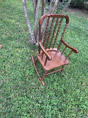 Kids vintage wooden rocking chair for Sale in Austin, TX