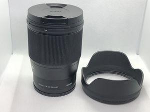 Sigma 16mm F/1.4 DC DN Contemporary Lens for Sony E for Sale in Aurora, IL